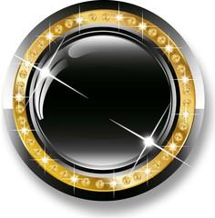 Vip glossy black  icon