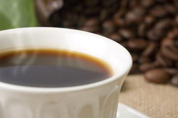 café negro caliente