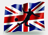 Country Flag Sport Icon Silhouette – UK Soccer