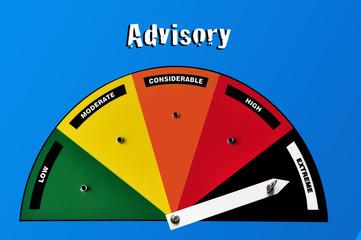Advisory warning sign - extreme danger