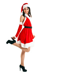 Sexy Santa Claus isolated on white