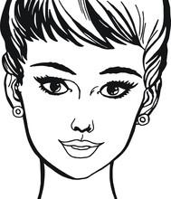 rostro una mujer hermosa de