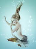 mermaid beautiful magic underwater mythology being original phot