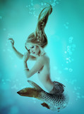 mermaid beautiful magic underwater mythology being original phot poster
