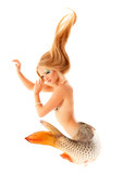 mermaid beautiful magic mythology being original photo compilati poster