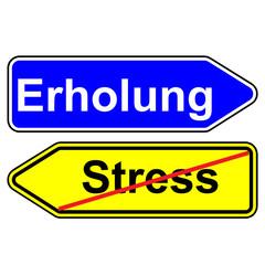 Wegweiser - Stress / Erholung