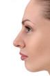facial profile of young woman
