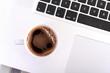 Pc und Kaffee