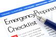 Leinwanddruck Bild - Emergency Preparedness Checklist