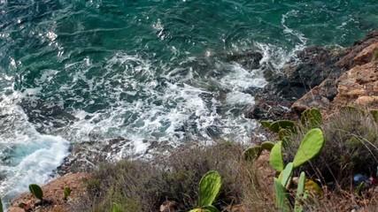 Waves Slamming The Shore