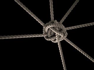 Zusammenhalt Seil Knoten