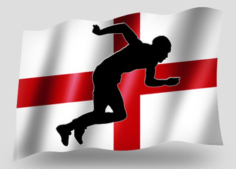 Country Flag Sport Icon Silhouette English Athletics