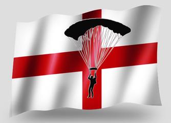 Country Flag Sport Icon Silhouette English Parachuting