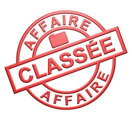 """""""Affaire Classée"""" Cachet (rouge)"""