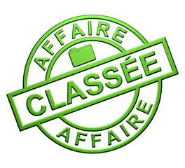 """""""Affaire Classée"""" Cachet (vert)"""