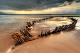 Fototapety The Sunbeam ship wreck on the Rossbeigh beach, Ireland