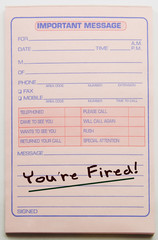 You're Fired Message Pad