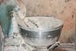 Amasadora de harina para hacer pan. Panificadora