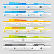 Web design  elements with icons set: Navigation menu bars