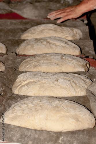 Pan reposado listo para el horno