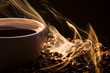 Golden fragrance fly away from roasted coffee