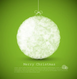 Fototapety Vector modern card with abstract christmas decoration