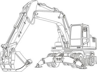 contour excavator