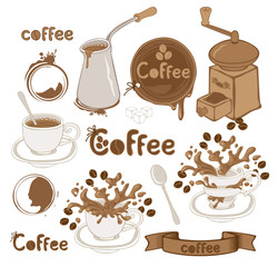 set on the coffee theme
