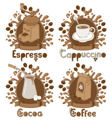 four items on the coffee theme