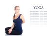 Yoga bharadvadjasana twist pose