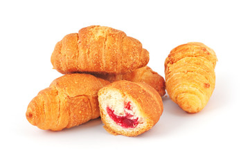 Fresh hot croissants
