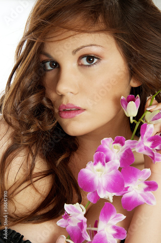 beauty fiore orchidea femminile
