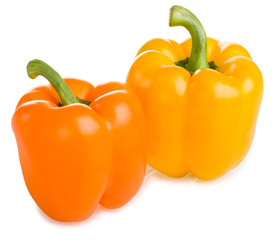 Orange and yellow pepper
