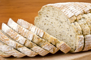 Sliced Herb and Olive Bread