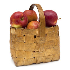The apples in the basket