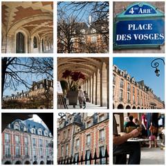 composition place des Vosges à Paris