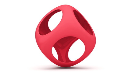 uturistic red cube loop animation
