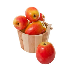 Apples in a wooden basket