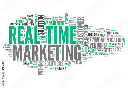 "Word Cloud ""Real-Time Marketing"""