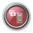 "Red 3D Style Button ""Medical Records"""