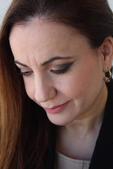 Close up of a beautiful business woman