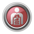 "Red 3D Style Button ""Internal Medicine"""