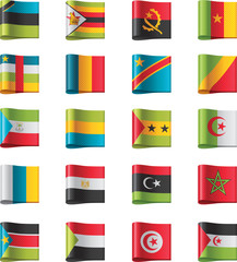 Vector flags. Africa, part 10