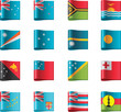 Vector flags. Oceania, part 12