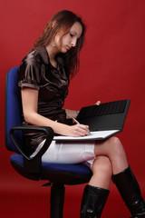 Schreibende Assistentin