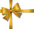ribbon bow gift box gold silk