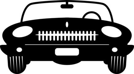Convertible Retro Car, vector illustration