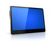 Modern tablet  with blue screen isolated - own design