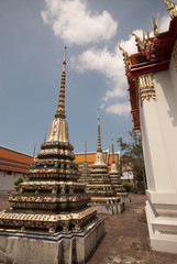 Thai style pagoga in temple .