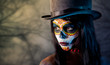 Sugar skull girl in tophat - 36868303